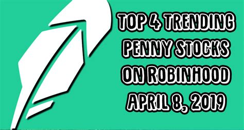 top  penny stocks  robinhood  april   pennystockscom