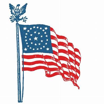 Flag American Clip Clipart Domain Eagle States