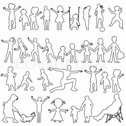 Abstract Outlines Sketch Vector Peoples Illustration Line