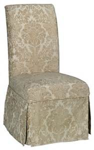 parsons side chair skirted slipcover traditional dining chairs