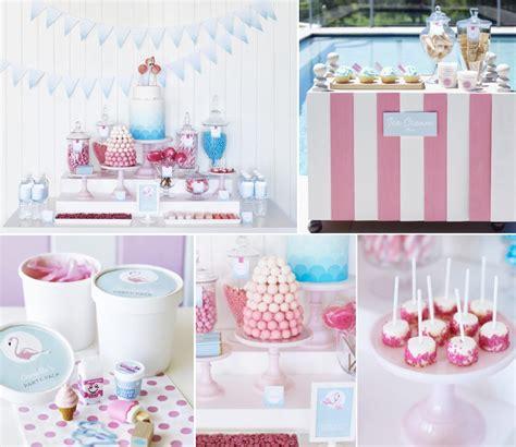 Kara's Party Ideas Retro Pink Flamingo Girl Birthday