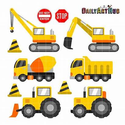 Construction Equipment Clipart Heavy Crew Clip Vehicles