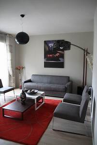 decoration salon noir gris rouge exemples d39amenagements With deco salon gris rouge