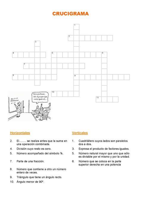 MatemáticasIES Antonio Menárguez Costa: Crucigramas