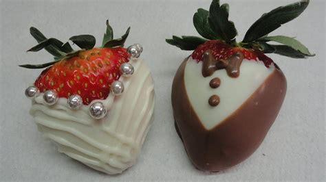 dressed  chocolate dipped strawberries bride