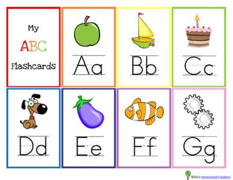 Free, Printable Alphabet Flash Cards For Kids