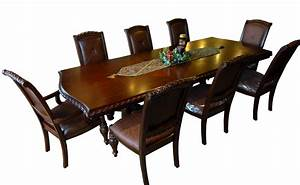 Dark Mahogany 9 Piece Dining Set