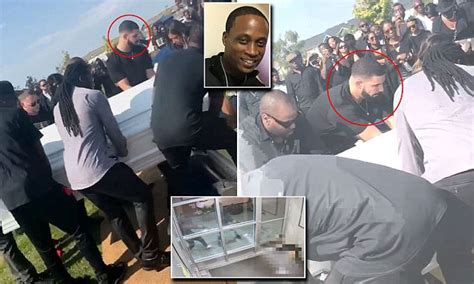 drake helps bury friend   killed  toronto shootout