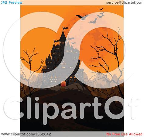 clipart   creepy haunted halloween castle