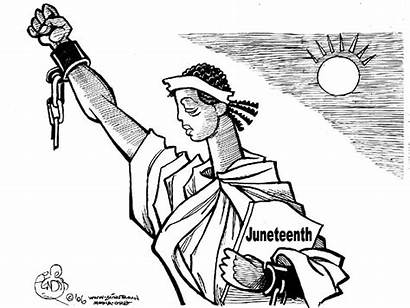 Juneteenth Happy Cartoon Slavery African Transgriot Readers