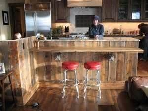 kitchen island ideas with bar reclaimed barn wood bar island an idea to repurpose wood 8185