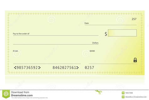 Bank Check Royalty Free Stock Photos