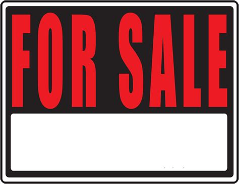 Printable For Sale Sign Clipart Best
