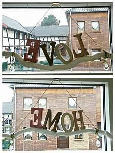 Lampe Mit Buchstaben : diy fensterdeko ast aus dem wald wei gestrichen und holz buchstaben mit hei kleber drauf ~ Watch28wear.com Haus und Dekorationen