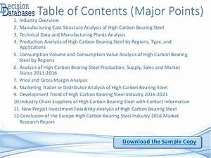 Europe High Carbon Bearing Steel Industry Sales and ...