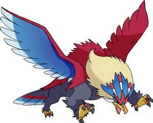 Pokemon Official Artwork by Mega Braviary Pok 233 Dex Stats Moves Evolution Locations