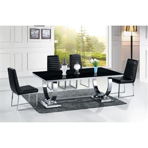 canapé 2 places relax cuir table de salle à manger en inox venezia mabre ou verre