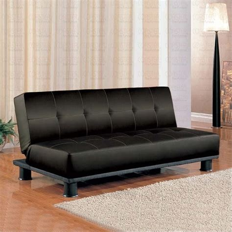 coaster contemporary armless convertible sofa bed in black