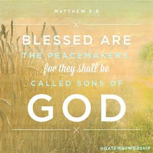 Bible Blessed Are the Peacemakers Matthew 5 9 Picture
