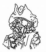 Coloring Jones Davy Pirates Caribbean Face Coloringkidz sketch template