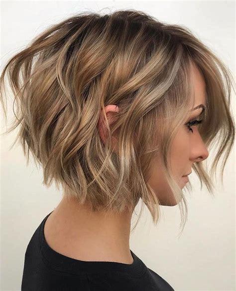 easy wavy bob hairstyles  balayage  female short haircuts