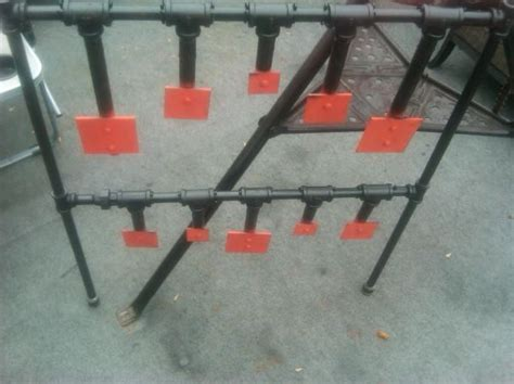 steel plate target plans duty steel pictures   hanging targets changing