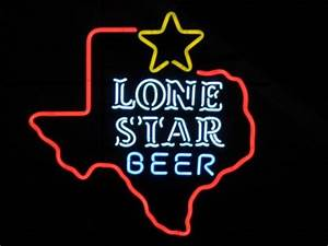 Lone Star Beer Texas State Neon Light Bar Pub Sign NEW