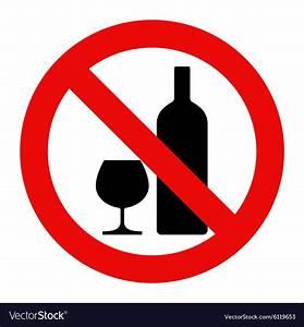 No alcohol sign Royalty Free Vector Image - VectorStock