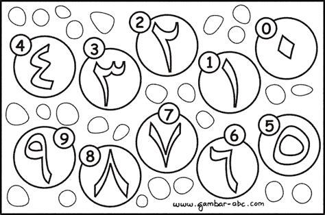 mewarnai angka arab   contoh gambar mewarnai