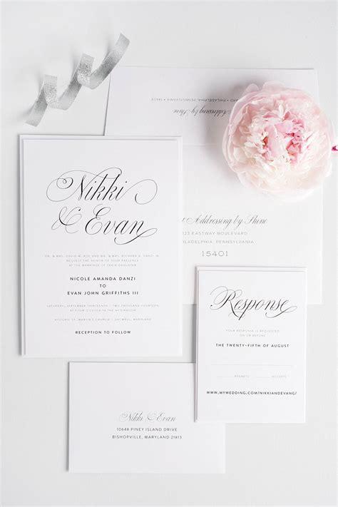 pink script wedding invitations wedding invitations