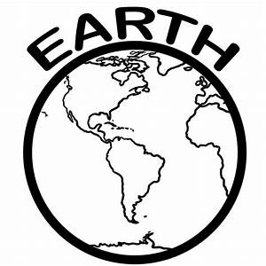 Earth Coloring Page - Dr. Odd