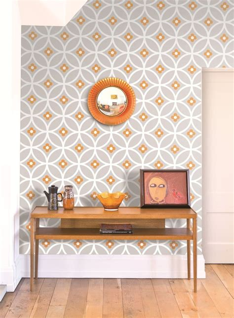 Bedroom Burnt Orange Wallpaper by Chain Large By Layla Orange Lf1010