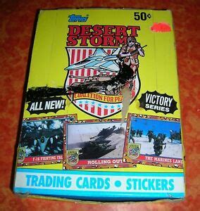 Of brooklyn, a borough of toys and games new york city, published a desert storm collector series of stickers and trading cards depicting u.s. Full Box Of Topps Desert Storm Trading Cards 36 Unopened Packs VICTORY SERIES | eBay