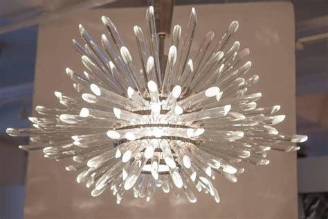 glass rod miracle sputnik chandelier for sale at 1stdibs