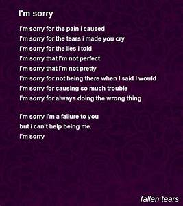 I'M Sorry Poem by fallen tears - Poem Hunter