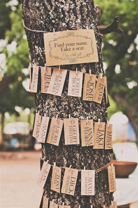 tree trunk escort card display onewed com