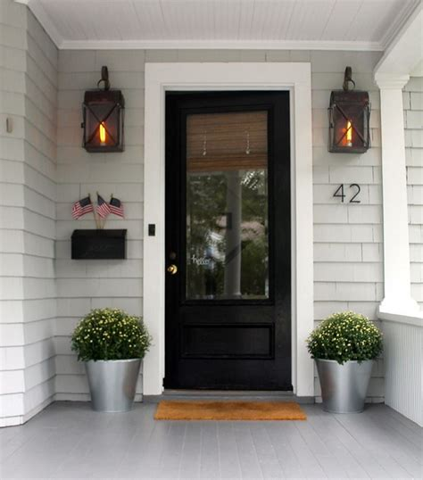 black front door for simple and attracting applications