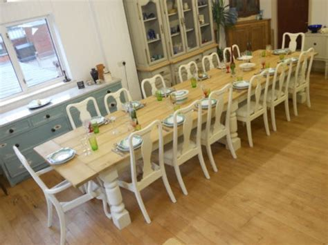 """10,12,14,16,18,20  Seater Dining Table,2"""" oak planked top"""