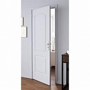 bloc porte postforme postforme h204 x l73 cm poussant With porte de garage et porte interieur 83 cm