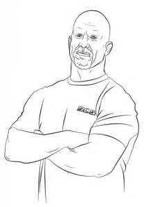 wwe stone cold steve austin coloring page  printable coloring pages