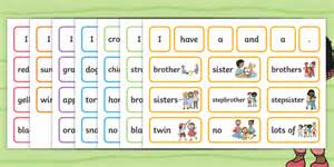 * New * We Are All Different Sentence Building Cards