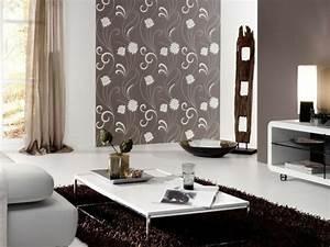 decoration salon papier peint With deco papier peint salon