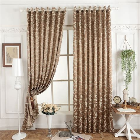 simple drapes free shipping jacquard 3d curtain for living room simple