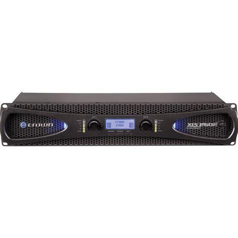 crown audio xls 2502 stereo power lifier xls2502 b h photo