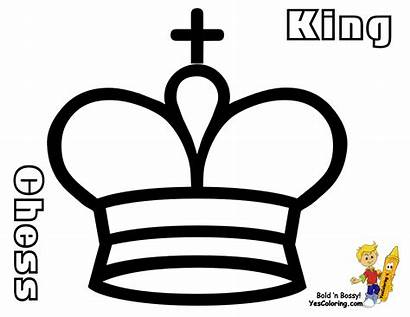 Chess Coloring Pieces Pages King Printable Medieval