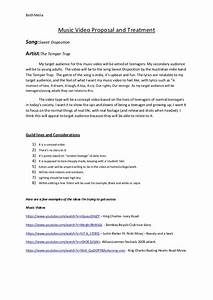 Music video proposal and treatment for Video treatment template