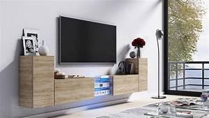 Lowboard Design Möbel : kaufexpert tv lowboard galaxy sonoma eiche mdf design board hifi tisch beleuchtung modern ~ Sanjose-hotels-ca.com Haus und Dekorationen