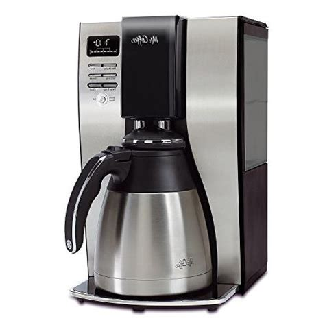 It's designed to keep your freshly brewed coffee hot. Mr. Coffee 10-cup Optimalbrew Thermal Coffee Maker