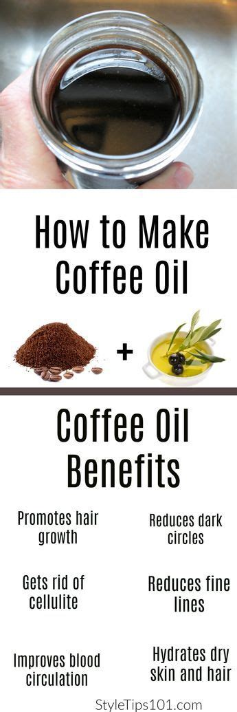 It seems that adding coconut oil to your morning cup of coffee can actually improve. How to Make Coffee Oil | How to make coffee, Oils for skin, Homemade beauty