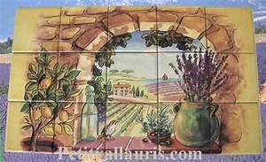 Decoration Murale Exterieur Provencale : fresque faience c ramique proven ale personnalis e plaque ~ Nature-et-papiers.com Idées de Décoration